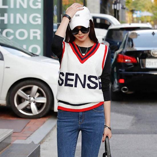 シーフォックスセンス米ニットベスト ベセチュウ / ニット・ベスト/ 韓国ファッション