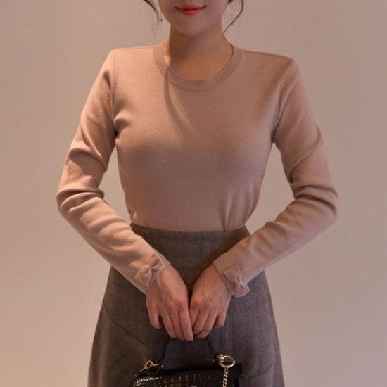 悪女日記】リボン小売ニート4col ニット/セーター/ニット/韓国ファッション