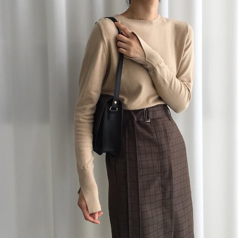 [ラルム】スリットニット3col korea fashion style