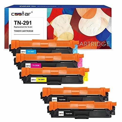 CSSTAR Brother ブラザー用 TN-291BK*2 TN-296 CMY 5本 互換トナーカートリッジ 対応機種:HL-3170CDW HL-3140CW HL-3150CDW DCP-9
