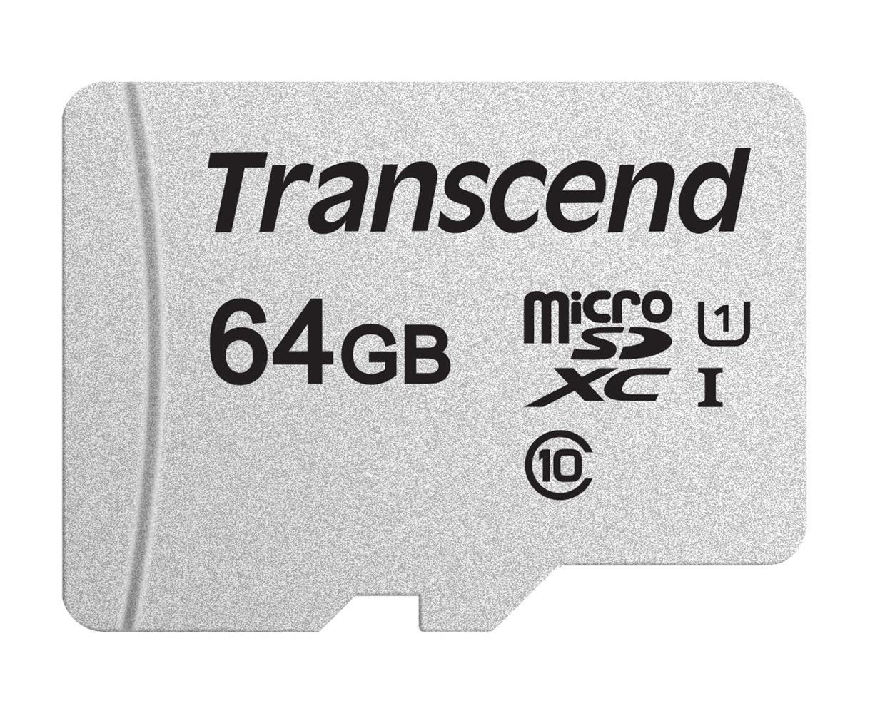 【正規国内販売代理店】トランセンド 64GB UHS-I U1 microSDXCカード(変換アダプターなし) TS64GUSD300S