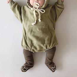 2020年春と秋の子供服、男の子と女の子のかわいいクマのジャンプスーツの韓国語版、ロンパース