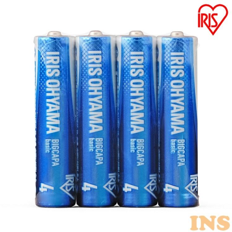 乾電池 BIGCAPA basic 単4形 4本パック LR03Bb/4P 電池 でんち デンチ 乾電池 かんでんち カンデンチ アルカリ乾電池 あるかりかんでんち アルカリ アイリスオーヤマ