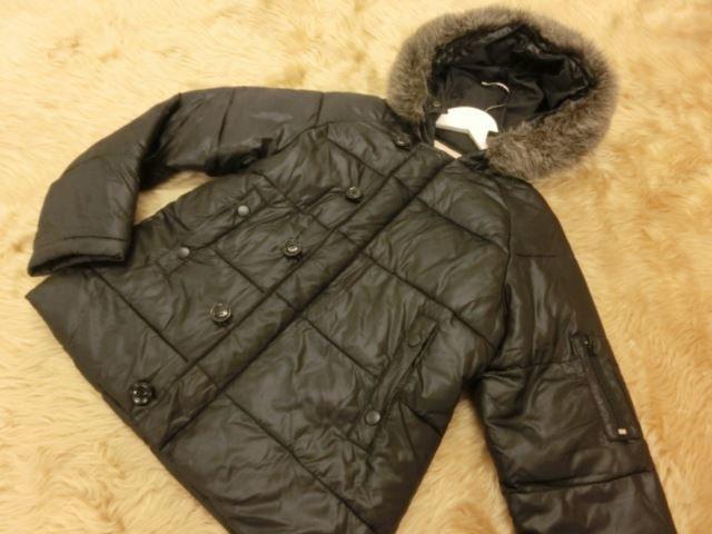 美品♪ LOWRYS FARM/ローリーズファーム 中綿入りジャケット M ブラック【中古】