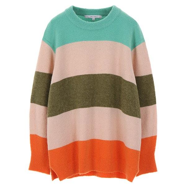 [韓国直送] 【オンエンオン] vivid stripe knit NK7WP185
