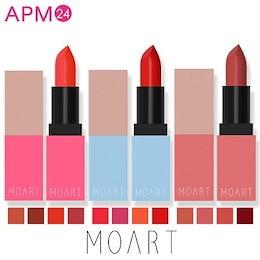 A-TEEN 口紅 リップ モアート ベルベット リップスティック moart velvet lip stick  見たままの発色 カラーバリエーション 全12色 鮮やかな発色