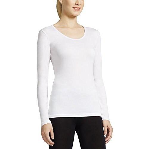 Weatherproof Womens Thermal Base Layer Long Sleeve Crew - X-Large, White