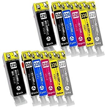キヤノン用 互換 BCI-326+325/6MP 2セット(全12本) 互換インク PIXUS / MG8230 MG8130 MG6230 MG6130 他対応/残量IC付 ISO取得工場製造