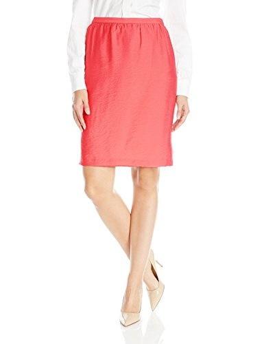 Anne Klein Womens Duppioni Gathered Skirt, Sun Up, 8