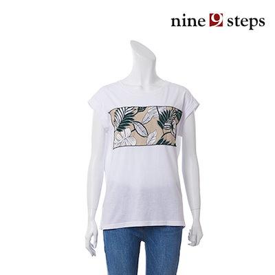 ナインステップペイズリーパッチ袖なしシャツT17NT7241T トップ/ノースリーブTシャツ/ 韓国ファッション