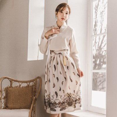 [韓国直送] 生活韓服セット綿の花+桜のフレ良い_(1061407)