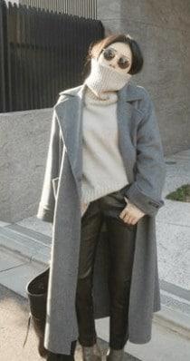レディース ラシャコート ストラップ ゆったり 着やせ 秋冬