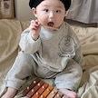 2021秋新しい韓国の赤ちゃん新生児男の子と女の子スヌーピー長袖スウェットパンツスーツルームウェア