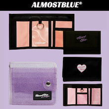 【qoo10が最安値!】【ALMOSTBLUE】 財布大集合10種 ♥ 3色♥ snsで人氣♬コンパクトウォレット。シンプルなデザイン♪