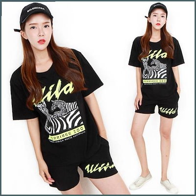 [Hスタイル](PS)ワイルドセット/ビッグサイズ/半袖トレーニング/ジャㅡジ /トレーニング上/ スウェットパンツ/韓国ファッション