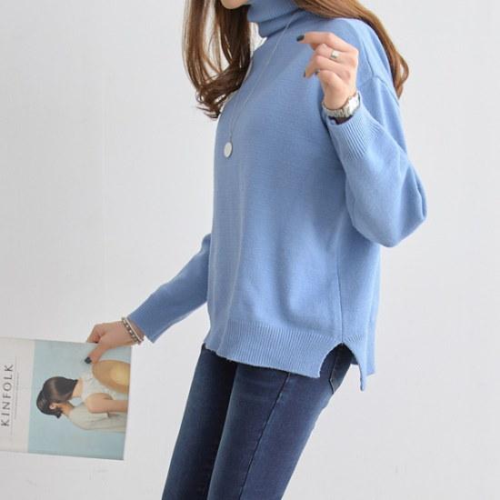 ピピンポルディベーシックポーラ・ニット104742 ニット/セーター/タートルネック/ポーラーニット/韓国ファッション