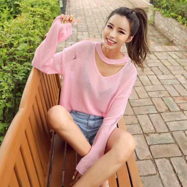 スムージーニット夏ニットnewsrcLangTypeko 女性ニット/ラウンドニット/韓国ファッション