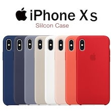 [Apple]韓国アップル純正iPhoneXs / XsMAXシリコンケースシンプルなデザインのスリムパステルケース