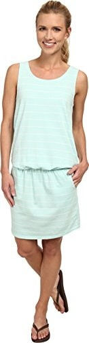 Carve Designs Womens Meadow Dress, X-Large, Turquoise Stripe