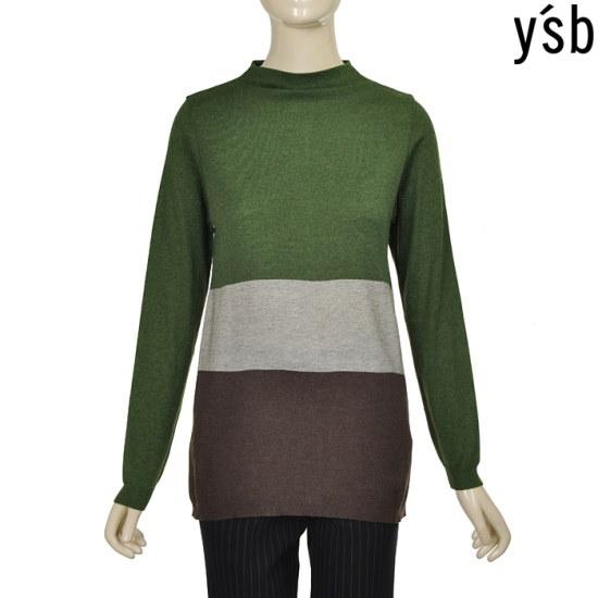 イエス費3配色ロング・ニットBA5F9WSP851470 ロングニット/ルーズフィット/セーター/韓国ファッション