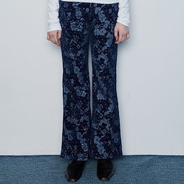 [LUVISTRUE] SS 21 IN FLOWER BOOTS CUT PANTS(BLUE)