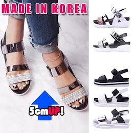 ★2018 S/ Sの像!★韓国のファッションの人気サンダル!★女性エナメルサンダル!ハンドメイド!どんなコーディネートにも似合うデザイン