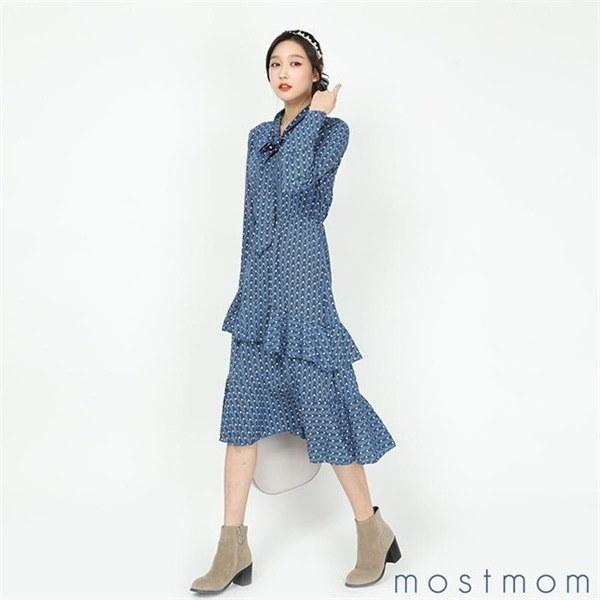 工作2段ロングワンピースM1802259 new 無地ワンピース/ワンピース/韓国ファッション