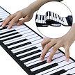 【新品送料無料】 ロールピアノ 88鍵盤 電子ピアノ 折り畳み 128種類音色 88デモン曲 OTG機能 150リズム USB充電 スピーカー内蔵 イヤホン マイク対応 キーボード 楽器 初心者