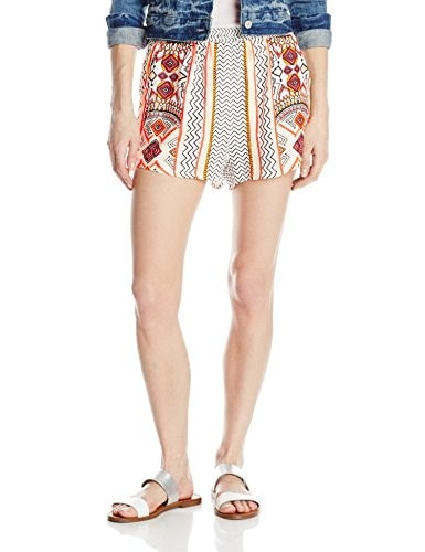 MINKPINK Womens Space Cowboys Printed Shorts, Multi, X-Small