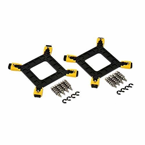 intel cpuクーラー ネジ固定 変更キット 13点セット (LGA1155 LGA775 対応) cpuファン ヒートシンク バックプレート (LGA1151 マザーボード でも使用可/サイズ