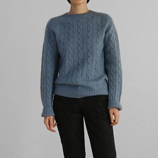 エンピオナカリー・ケーブル・ニット ニット/セーター/ニット/韓国ファッション