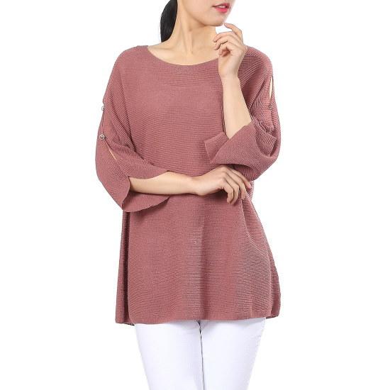 ナイスクルラプルーズフィットラウンドニートN172KSK006 ニット/セーター/韓国ファッション