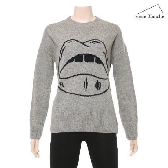 メゾンブルランスィ唇プリントニットM174TSWC09 / ニット/セーター/ニット/韓国ファッション
