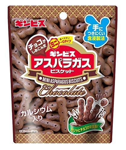 ギンビス チョコがしみこんだミニアスパラガス 40g 10袋
