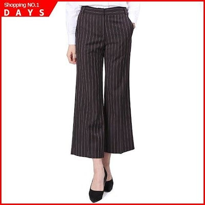 [ラップ]・ストライプ9部スラックス(AJ2WP262) /パンツ/面パンツ/韓国ファッション