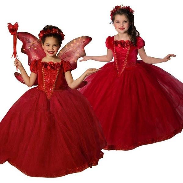 プリンセスガールズブルーコスチュームコスプレファンシーパーティーガールズエルザドレス(4〜11歳)