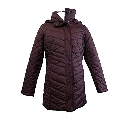 Marc New York Andrew Marc Quilted Walker Hooded Womens Jacket Coat Burgundy Small