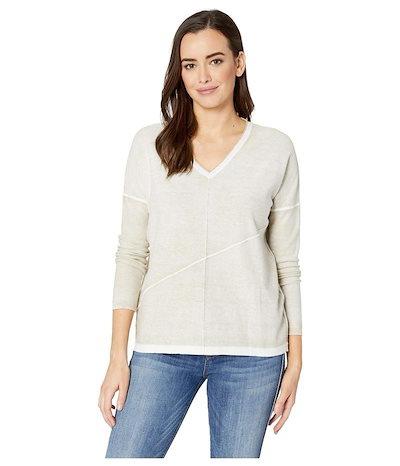 エリオットローレン レディース ニット・セーター アウター Luminosity Cotton Sweater with Exposed Seam Detail