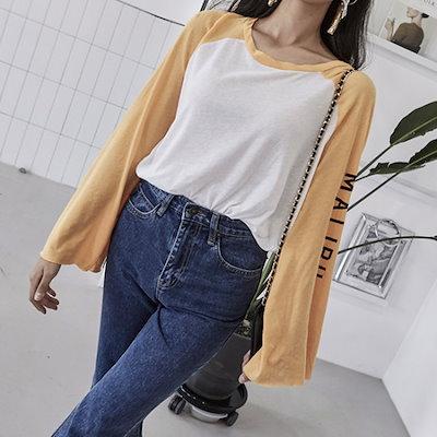 ブルランチョルーズフィットナグランティーシャツts01544 ティーシャツ / ソリッド/無知ティーシャツ / 韓国ファッション