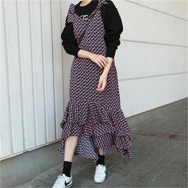 レオリンディプブイワンピース1988 new フレアワンピース/ワンピース/韓国ファッション