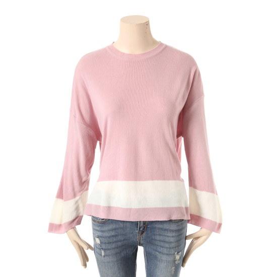 プラスチックアイルランド配色ニットPG1KL281PI ニット/セーター/ニット/韓国ファッション