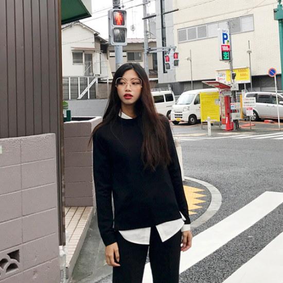 欲しいかセルロプラウンドニット ニット/セーター/ニット/韓国ファッション