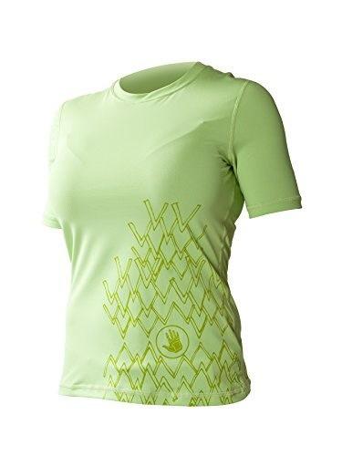 Body Glove Womens Loose Fit Short Sleeve Rash Guard Tops, Lemongrass, Medium