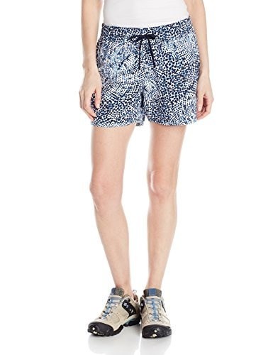 Columbia Sportswear Womens Cool Coast Shorts, Collegiate Navy Print, Medium/4