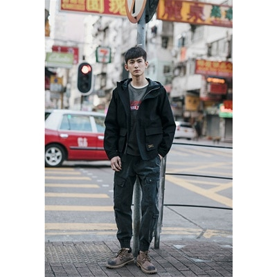 Qoo10 | [55555SHOP]韓国ファッション 新品 大人気ポップなファッション フートつき ジャケット アウター メンズ : メンズ ファッション