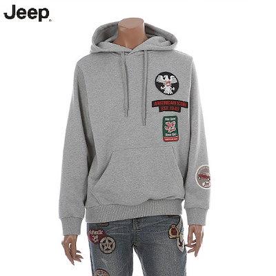 JEEP[AK公式ストア][ジープ] [ジープ]ユニセックススリーブワッペンパッチフードTシャツ(JI2THU037)