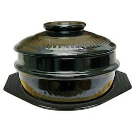 『土鍋』トッペギセット|蓋・鍋敷き付■サイズ(14cm/16cm/18cm)[トッペキ][調理器具][キッチン用品][韓国食器]