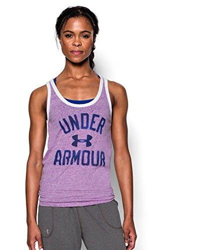 Under Armour Womens UA Favorite Graphic Tank Small MEGA MAGENTA