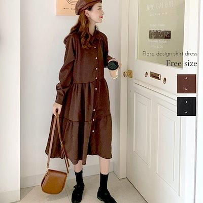 コーデュロイ素材の甘めスタイル☆