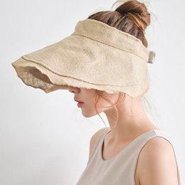 売り切れ前に急いで!限定数量【ANDSTYLE】韓国ファッション/リネンサンバイザー/自然なシワつきでおしゃれ 夏コーデアイテム 日除け帽子 UV対策 可愛いサンバイザー♡_241526